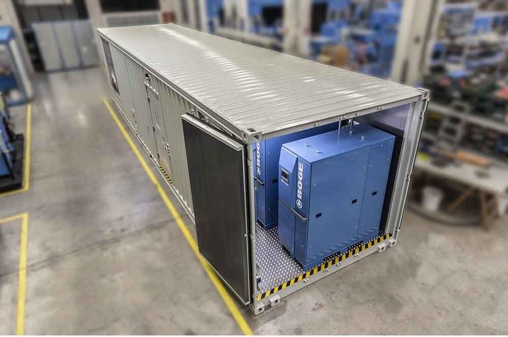 Contenedores de BOGE: soluciones de aire comprimido hechas a la medida de un solo proveedor
